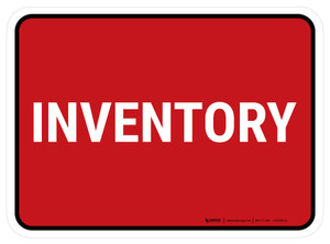 5S Inventory Red Rectangle - Floor Sign