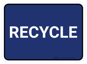 5S Recycle Blue Rectangle - Floor Sign