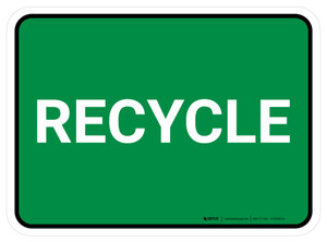 5S Recycle Green Rectangle - Floor Sign