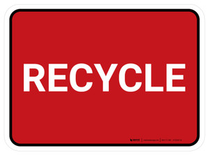 5S Recycle Red Rectangle - Floor Sign