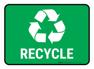 5S Recycle Symbol Rectangle - Floor Sign
