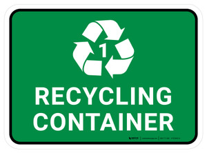 5S Recycling Container 1 Rectangle - Floor Sign