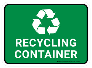 5S Recycling Container Rectangle - Floor Sign