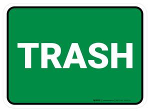 5S Trash Green Rectangle - Floor Sign