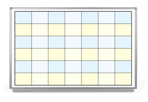 7x7 Color Grid Whiteboard