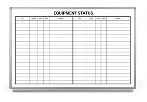 Equipment Status Whiteboard