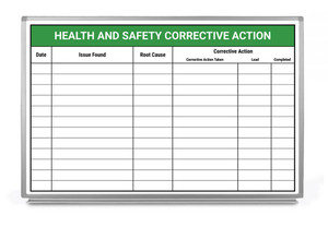 Health and Safety Corrective Action Whiteboard