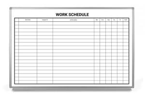 Work Schedule Whiteboard