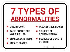 Seven Types of Abnormalities Rectangle - Floor Sign