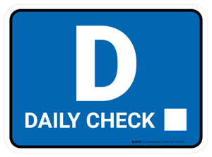 TPM Daily Inspection Rectangle - Floor Sign