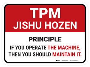 TPM Maintenance Principle Rectangle - Floor Sign