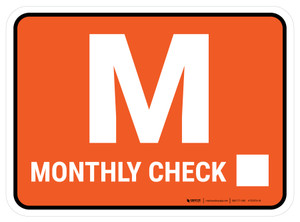 TPM Monthly Inspection Rectangle - Floor Sign