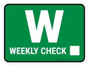 TPM Weekly Inspection Rectangle - Floor Sign