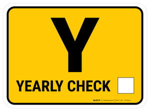 TPM Yearly Inspection Rectangle - Floor Sign