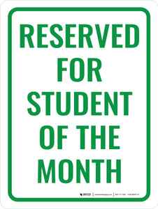 Reserved Student of The Month Portrait - Wall Sign