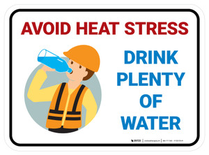 Avoid Heat Stress Dehydration Safety Rectangle - Floor Sign
