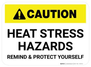 Caution Heat Stress Hazards Rectangle - Floor Sign