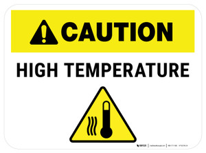 Caution High Tempdrature Rectangle - Floor Sign