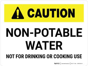 Caution: Non-Potable Water Landscape - Wall Sign