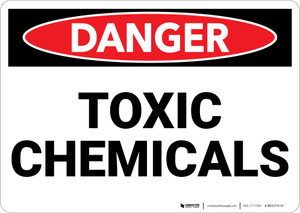 Danger: Toxic Chemicals - Wall Sign