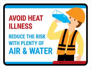 Avoid Heat Illness Landscape - Wall Sign