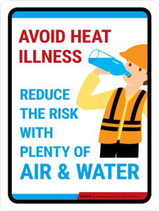Avoid Heat Illness Portrait - Wall Sign