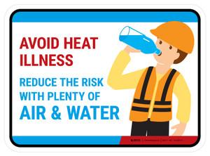 Avoid Heat Illness Rectangular - Floor Sign