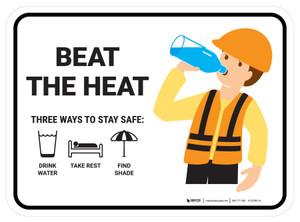 Beat the heat Three ways Rectangular - Floor Sign
