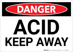Danger: Acid Keep Away - Wall Sign