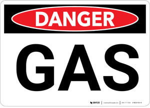 Danger: Gas Warning - Wall Sign
