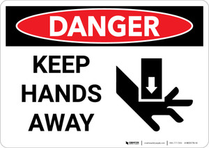 Danger: Keep Hands Away With Graphic - Wall Sign