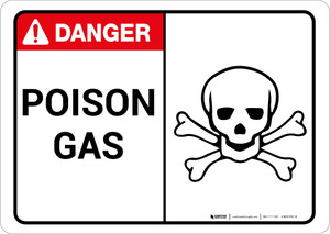Danger: Poison Gas With Graphic Warning - Wall Sign