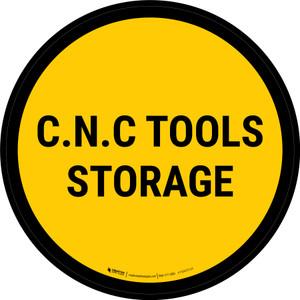 C.N.C Tools Storage Circular - Floor Sign