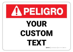 Custom ANSI Spanish Danger Sign