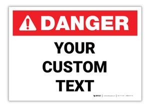 Custom ANSI Danger Label