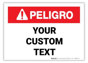 Custom ANSI Spanish Danger Label