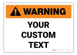 Custom ANSI Warning Label