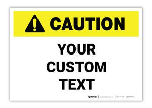 Custom ANSI Caution Label