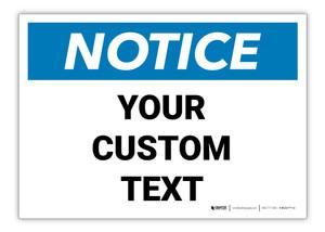 Custom OSHA Notice Label