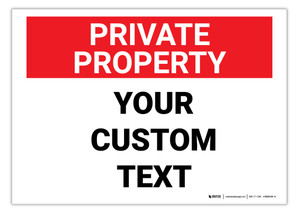 Custom Private Property Label