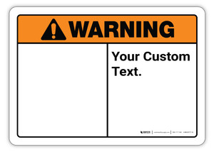 Custom ANSI Sign with Symbol