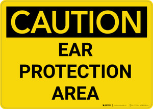 Caution: PPE Ear Protection Area - Wall Sign