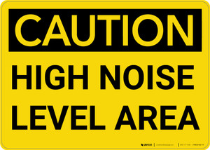 Caution: PPE High Noise Level Area - Wall Sign
