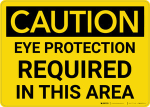 Caution: PPE Eye Protection Required in This Area - Wall Sign