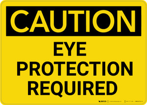 Caution: PPE Eye Protection Required - Wall Sign