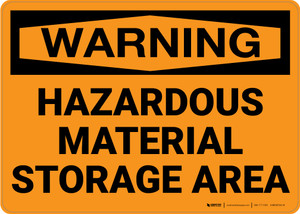 Warning: Hazardous Material Storage Area - Wall Sign