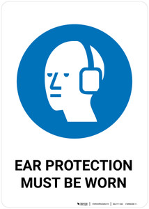 Safety First: Ear Protection Must Be Worn - Wall Sign