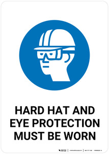 Safety First: Hard Hat Eye Protection Must Be Worn - Wall Sign