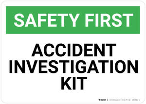 Safety First: Accident Investigation Kit - Wall Sign