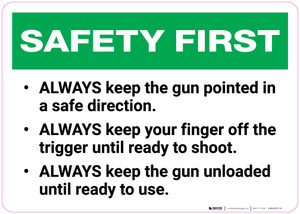 Safety First: Gun Range Rules and Safety - Wall Sign
